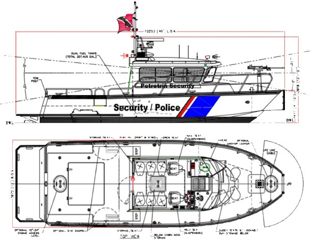 High Speed Aluminum Patrol Boats Manufactured By