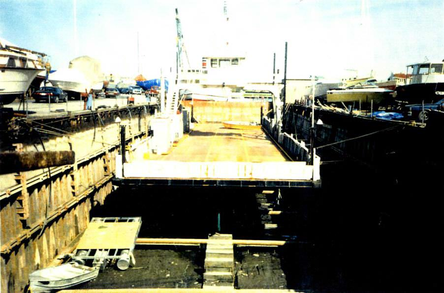 Work in progress at the Davis Drydock in Kingston, Ontario, part of MetalCraft Marine Ltd.